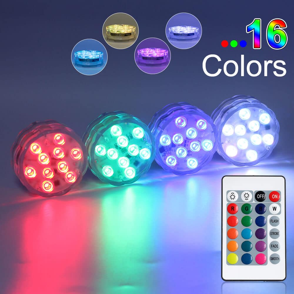 Led Puck Lights With Wireless Remote