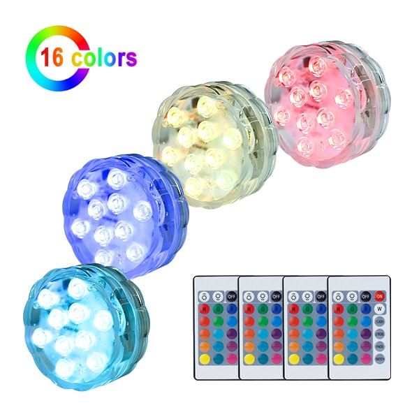 submersible led lights with remote control