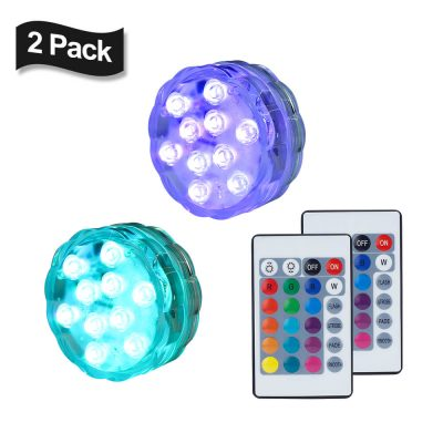 led submersible lights 2pack