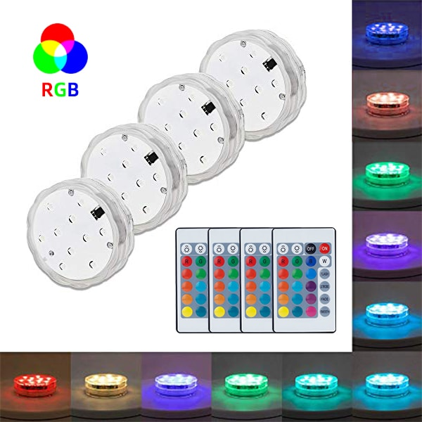 led submersible lights 4pack