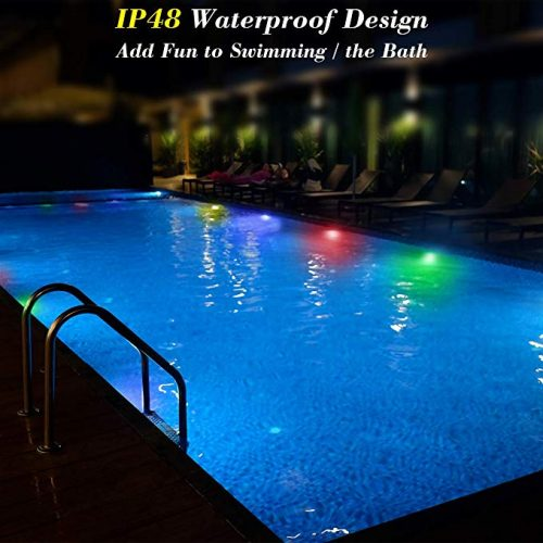 pool decorating lights