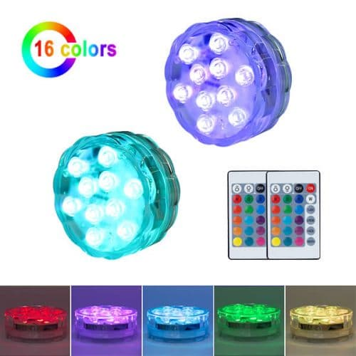 submersible led puck lights 2pack