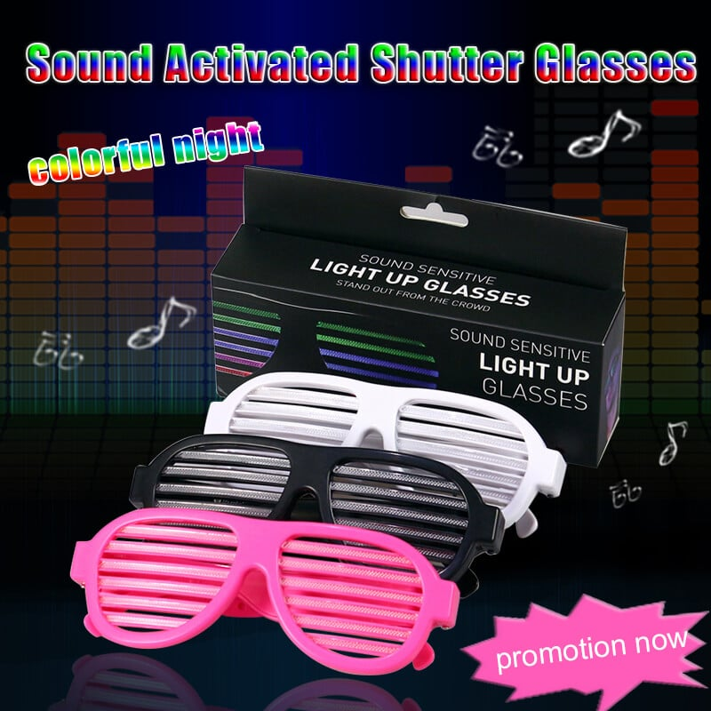 LED Sound Activated Glasses